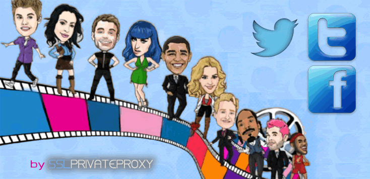 celebrities social media work trough private proxies | SSL Private Proxy