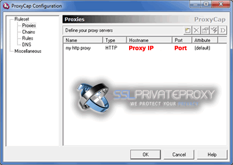 proxycap configuration after adding http proxy