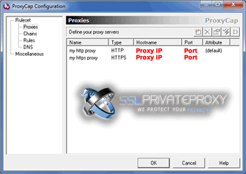 proxycap configuration after adding both http and https proxies