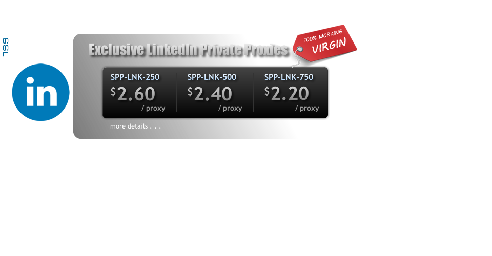 Buy Premium Virgin LinkedIn Private Proxies