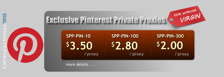 buy premium pinterest private proxies by ssl proxy