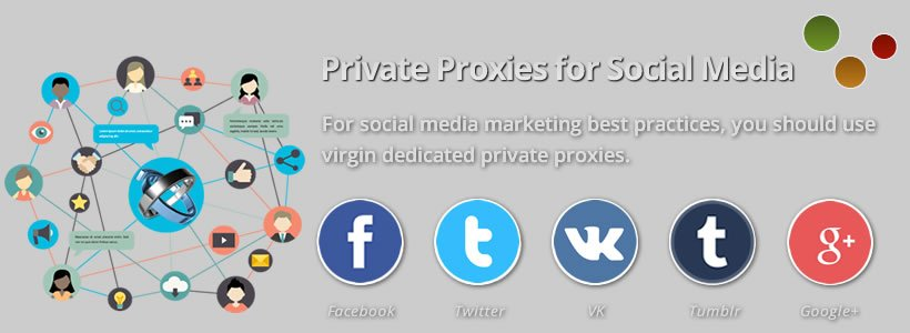 buy social media private proxies