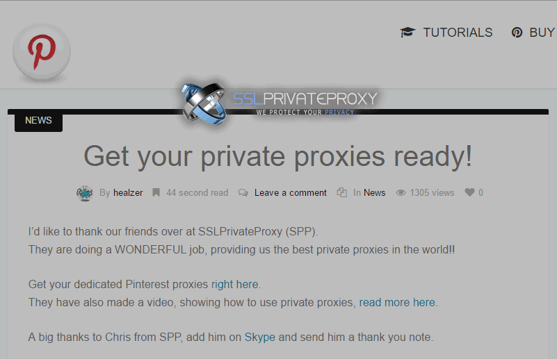 pinbot recommended pinterest private proxies