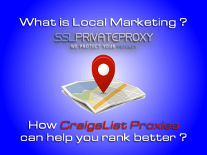 use craigslist proxies to boost your local marketing rank