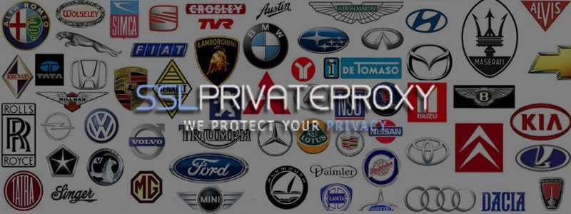 use private proxies to search for cars