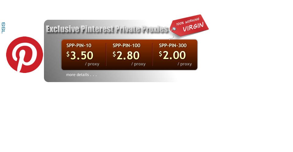 Buy Pinterest Virgin Exclusive Private Proxies